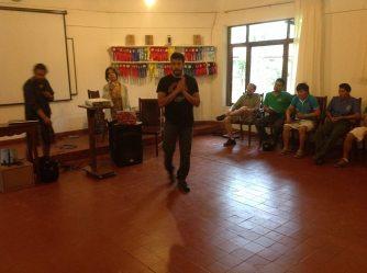 Andrés Salamanca, voluntario de Revolucióon Jigote participando en el evento. Foto: Tierractiva