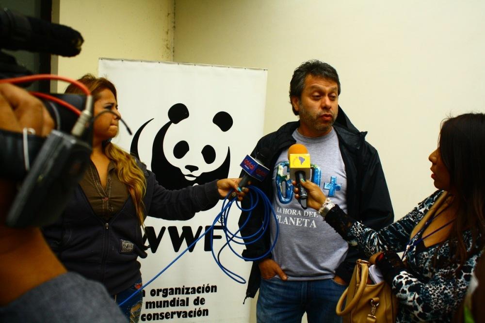 El representante de WWF responde a la prensa