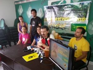 Presentación de la campaña en la sala de prensa.