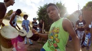 Tuvimos música en vivo gracias a los amigos de un grupo que estaba en San Isidro.