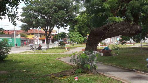 Uno de los parques de la UV30.
