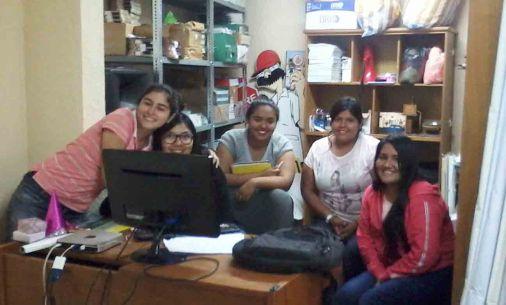 El equipo de jóvenes sociólogas.